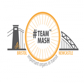 TeamMash Bristol to Newcastle Bike Ride