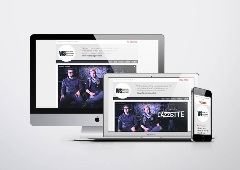 Branding and web design for Will Seelig, Videographer.
